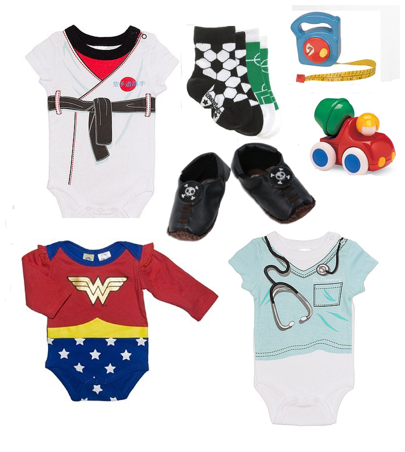 Not Another Baby Shop - themed onsies and toys