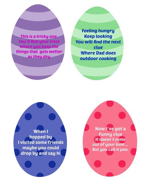 Easter Egg Hunt Clues part 2