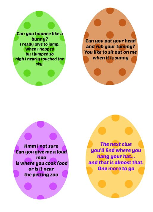 Easter Egg Hunt Clues Part 3