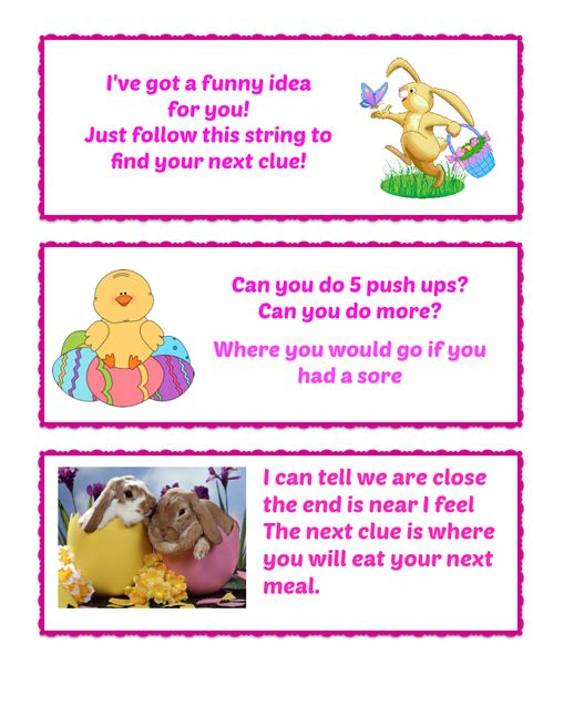 Easter gifts and easter egg hunt part 2 musings from not another easter egg hunt clues 3 negle Choice Image