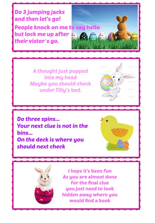 Easter Egg Hunt Clues 4