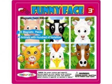 MAGNETIC FUNNY FACE FARM ANIMAL