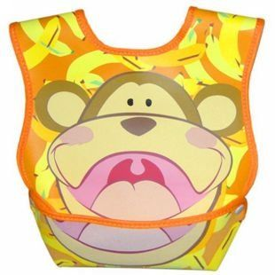 Monkey Pocket Bib For Little Grubs