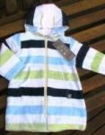 Swim Towelling Cover Up - 100% Bamboo/Organic - Blue Stripe (Last size 6-12mths)