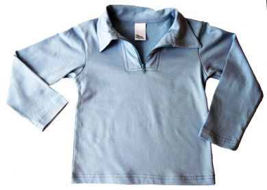 Boys or Girls Sky Blue Vintage Polo Top by Who Wears the Pants