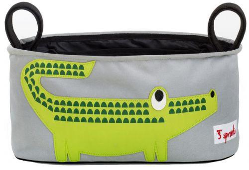 3 Sprouts - Pram Organiser - Crocodile