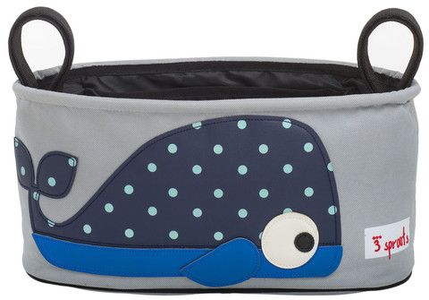 3 Sprouts - Pram Organiser - Whale