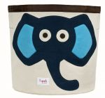 3 Sprouts - Storage Bin - Elephant (Blue)
