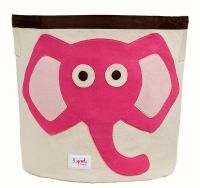 3 Sprouts - Storage Bin - Elephant (Pink)