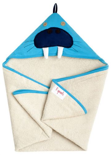 3 Sprouts - Hooded Towel -  Walrus