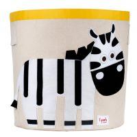 3 Sprouts - Storage Bin - Zebra