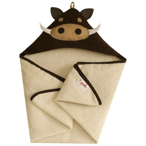 3 Sprouts - Hooded Towel - Warthog