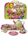Delightful Floral Tin Tea Set