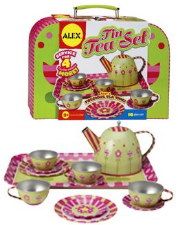 Delightful Floral Tin Tea Set