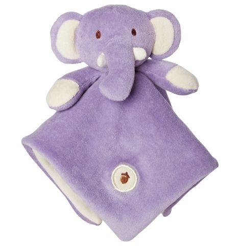 My Natural Organic Cotton Lovie Blanket - Elephant