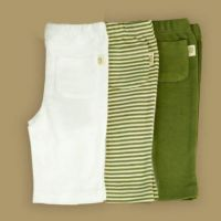 Pureborn Organic Cotton Pocket Trousers - Sage Stripe