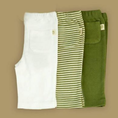 Pureborn Organic Cotton Pocket Trousers - Sage Stripe (only 3-6 mths left)