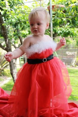 Santa's Little Helper Christmas Dress Outfit (Sizes 2-5 years)