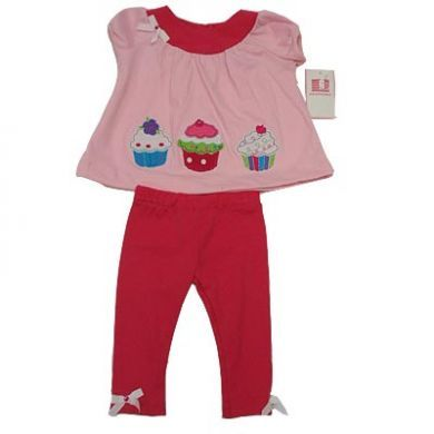Cupcake Top and Leggings Set