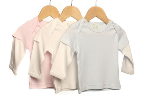 Organic Bamboo Long Sleeve Tee - Pink by Bamboo Care