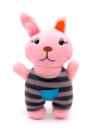 Knitted Bunny Rabbit with Rattle