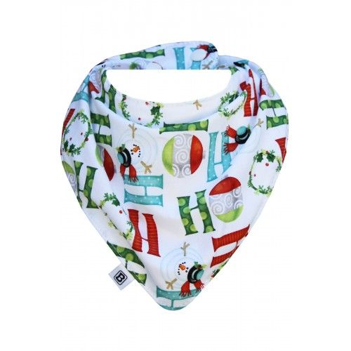 Bibska Bib - Ho Ho Christmas Bib- Dribble/Bandana Bib