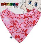 Bibska Bib - Pink Swirl - Dribble Bib -Bandana Bib