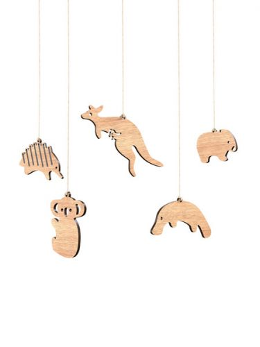 Aussie Animals Wooden Ornaments