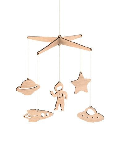 Space Wooden Baby Mobile