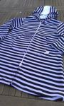 Swim Towelling Cover Up - Navy Stripes - Sizes 1-2 & 2-3 years