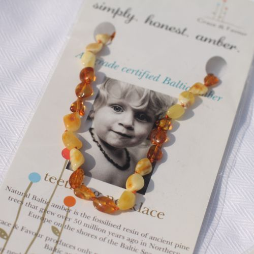 Baltic Amber Teething Necklace -Large Beads