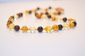 Baltic Amber Teething Necklace - Multi Colour