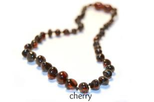 Baltic Amber Teething Necklace -Polished Cherry