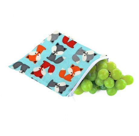 Itzy Ritzy Snack Happens Reusable Snack & Everything Bag - Mr Fox