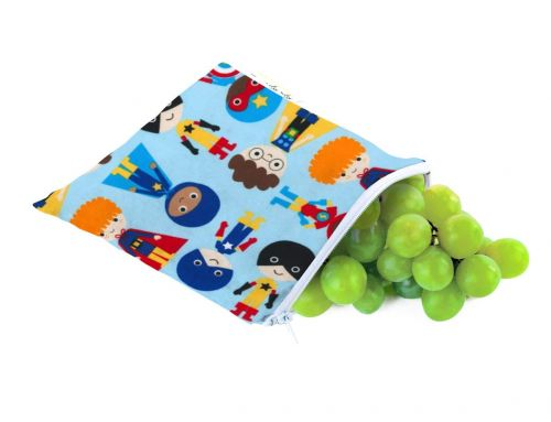 Itzy Ritzy Snack Happened Reusable Snack & Everything Bag - Playground Superhero Remix