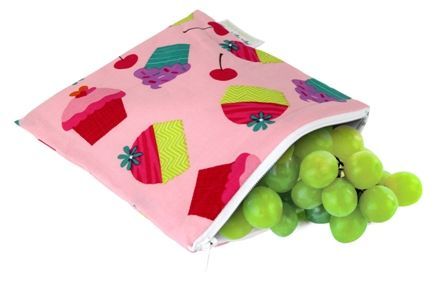 Itzy Ritzy Snack Happens Reusable Snack & Everything Bag - Cupcake Couture