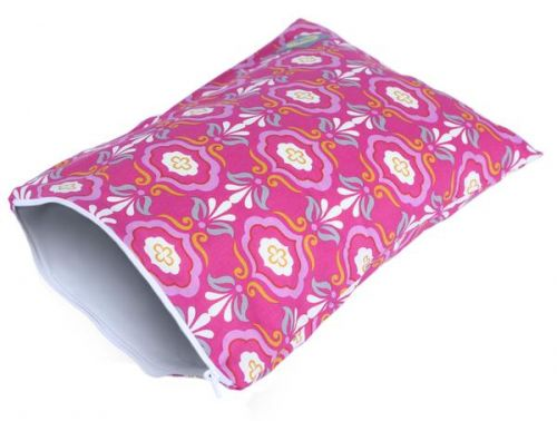 Itzy Ritzy Travel Happens Sealed Medium Wet Bag - Modern Damask