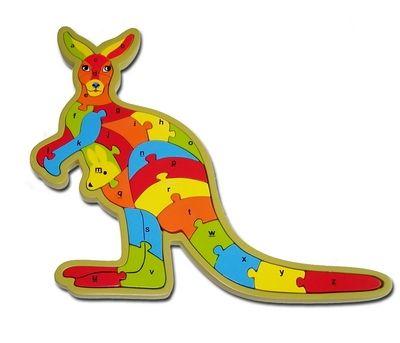 Aussie Kangaroo Puzzle A-Z - Australian Gift