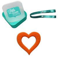 Little Num Nums - Teether - Heart of Hearts Gift Pack - Orange