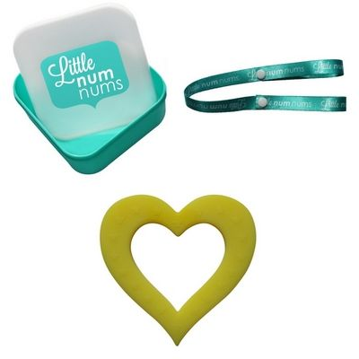 Little Num Nums - Teether - Heart of Hearts Gift Pack - Yellow