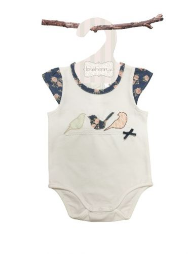 Love Henry Ella Birdie Romper (Sizes 00 to 2)