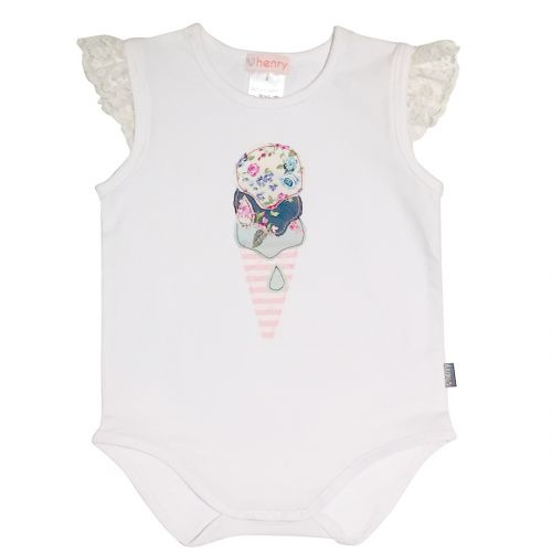 Love Henry Violet Icecream Romper  (Sizes 000 to 1)
