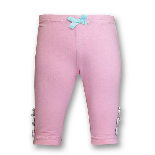 Love Henry Button Leggings Pink (Sizes 000 to 4)