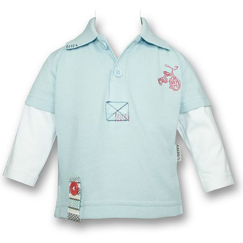 Love Henry Trike Long Sleeve Polo w/Contrast Sleeves (Sizes 00 to 3)