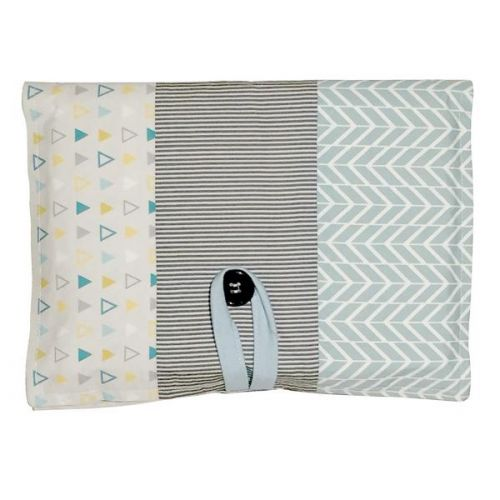 Love Henry Tribal Aqua Nappy Wallet Gift Set with swaddle and washers