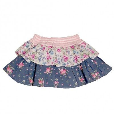 Love Henry Violet Frilly Pilcher Skirt (Sizes 000, 0, 1,2)
