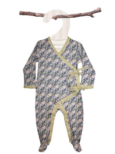 Love Henry Grace Winter Onsie - Floral (sizes 6 month to 2 years)