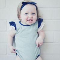 Love Henry Daisy  Knit Romper - Mint Spot (000 to 1)