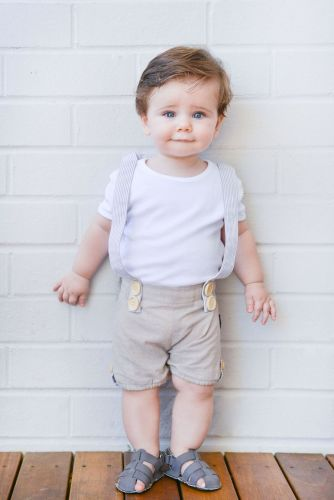 Love Henry Digby Boys Playsuit - Hamptons Linen
