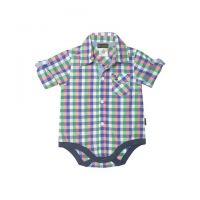 Love Henry Hamptons Edward Checked Shirt Romper (sizes 000 to 2)